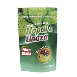 NOPAL & LINAZA EN POLVO 500 GRS DOYPACK
