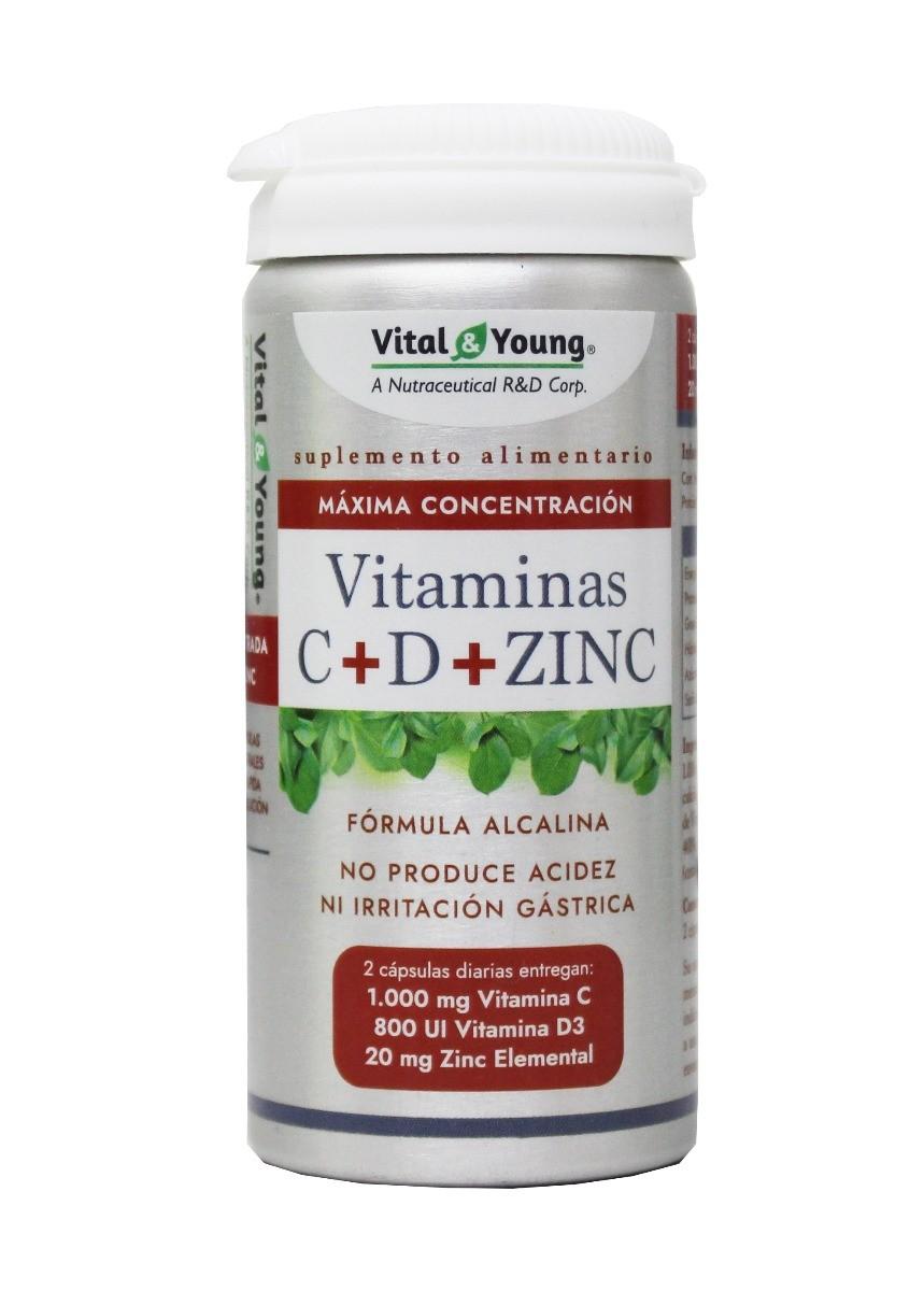 VITAMINA C+D+ZINC  60 CAPS.